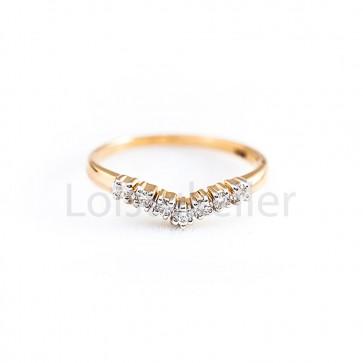 """""""Rida"""" teemantsõrmus"""