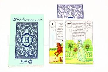 """Mlle Lenormand Blue Owl Fortune Telling Cards"" ennustuskaardid"