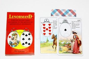 """Mademoiselle Lenormand"" klassikaline punane ennustuskaartide pakk"