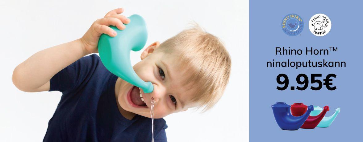 Laps kasutab ninanloputuskannu