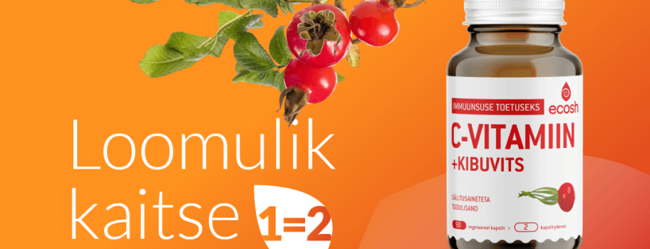 C vitamiin kibuvitsaga jaanuari lõpuni 1=2